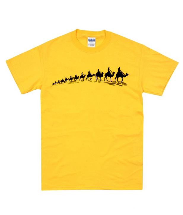 3671a52f8d20 Camel Printed t Shirt - clothzee