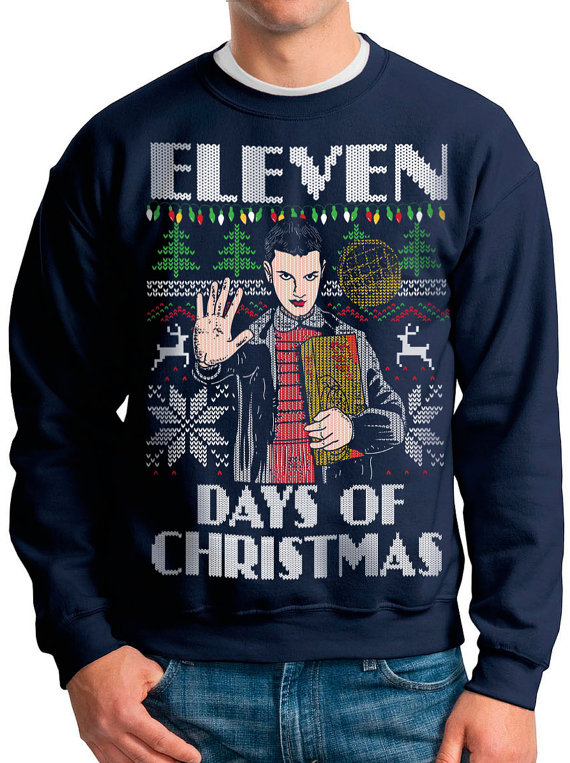 Stranger Things Ugly Christmas Sweater.Stranger Things Ugly Christmas Sweatshirt
