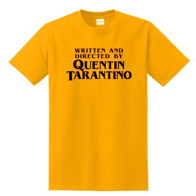 7b71dd8a1 Written And Directed By Quentin Tarantino T-Shirt - clothzee