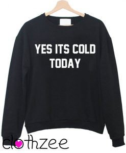 Yes Its Cold Today Sweater Jumper