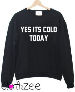 Yes Its Cold Today Sweatshirt