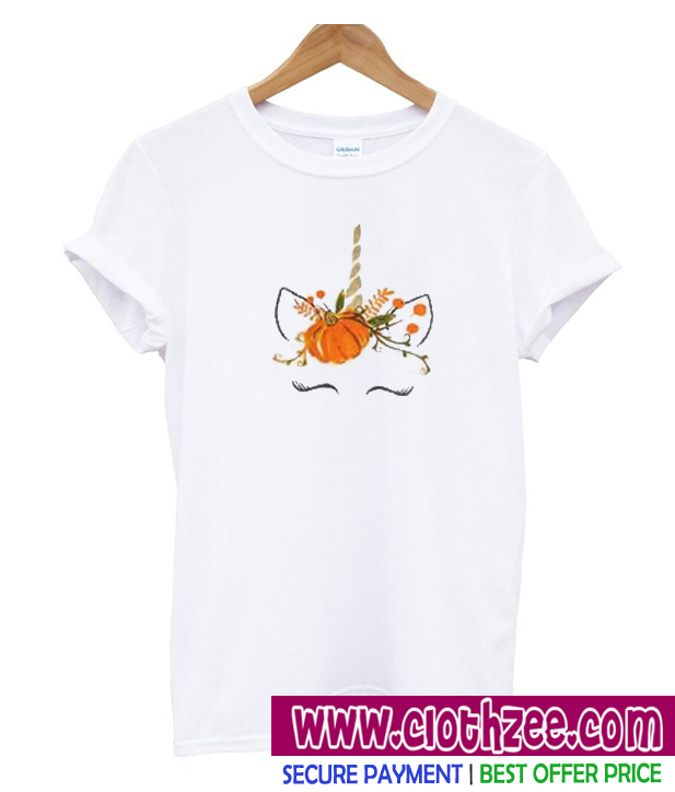 687abcbb8 Fall harvest unicorn ruffle Unisex adult T shirt | Best Clothes For ...