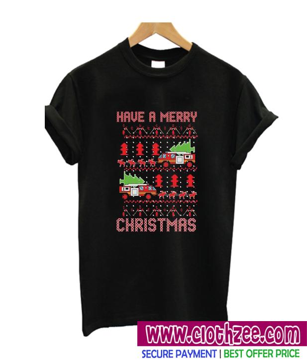 Firefighter Christmas Shirt.Firefighter Christmas T Shirt