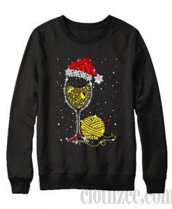 Yarn And Champagne Wine Glass Sweatshirt