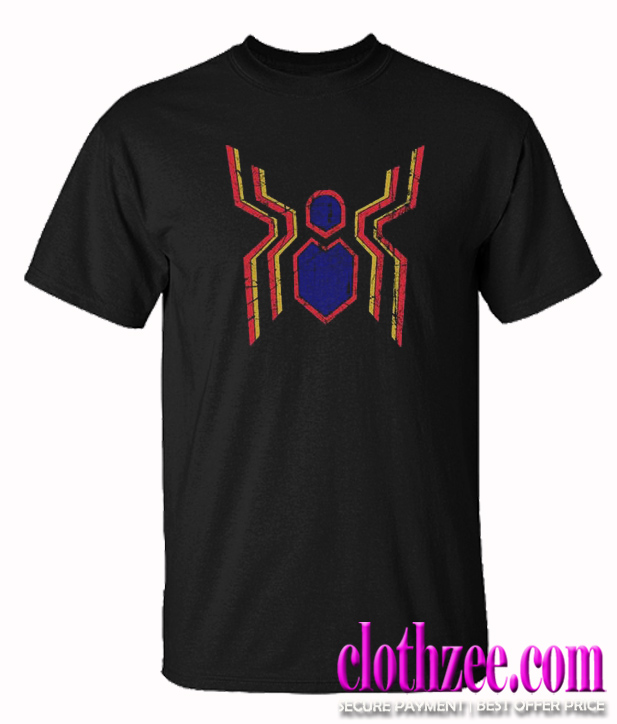 Spiderman retro distressed logo Trending T Shirt