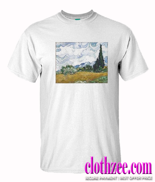 Vincent van Gogh Wheat Field with Cypresses Trending T Shirt