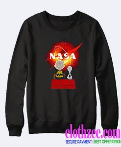 Snoopy and Charlie Brown Black Hole NASA Trending Sweatshirt