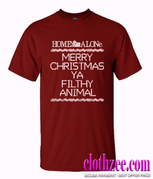 Merry Christmas Ya Filthy Animals.Home Alone Merry Christmas Ya Filthy Animal Christmas Trending T Shirt