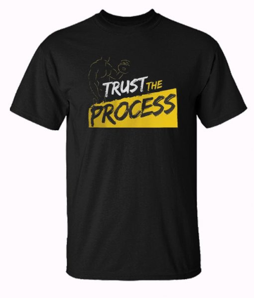 Trust The Process Yellow Stripes Trending T-Shirt