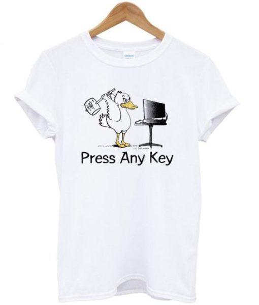 Press any key duck Best Trending t-shirt
