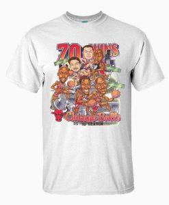 Vintage Chicago Bulls 1995-96 Caricature T-shirt