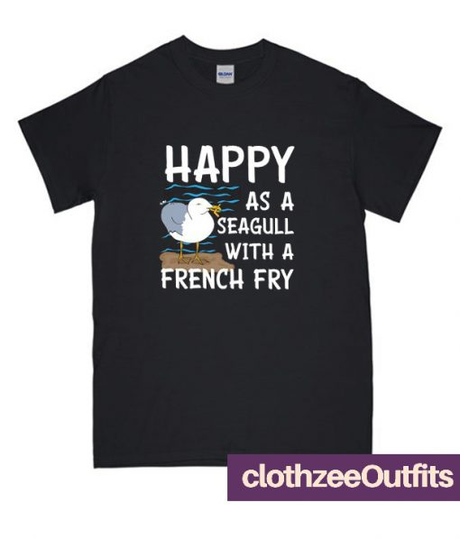 Seagull Funny French Fry Beach Bird Trending T-Shirt